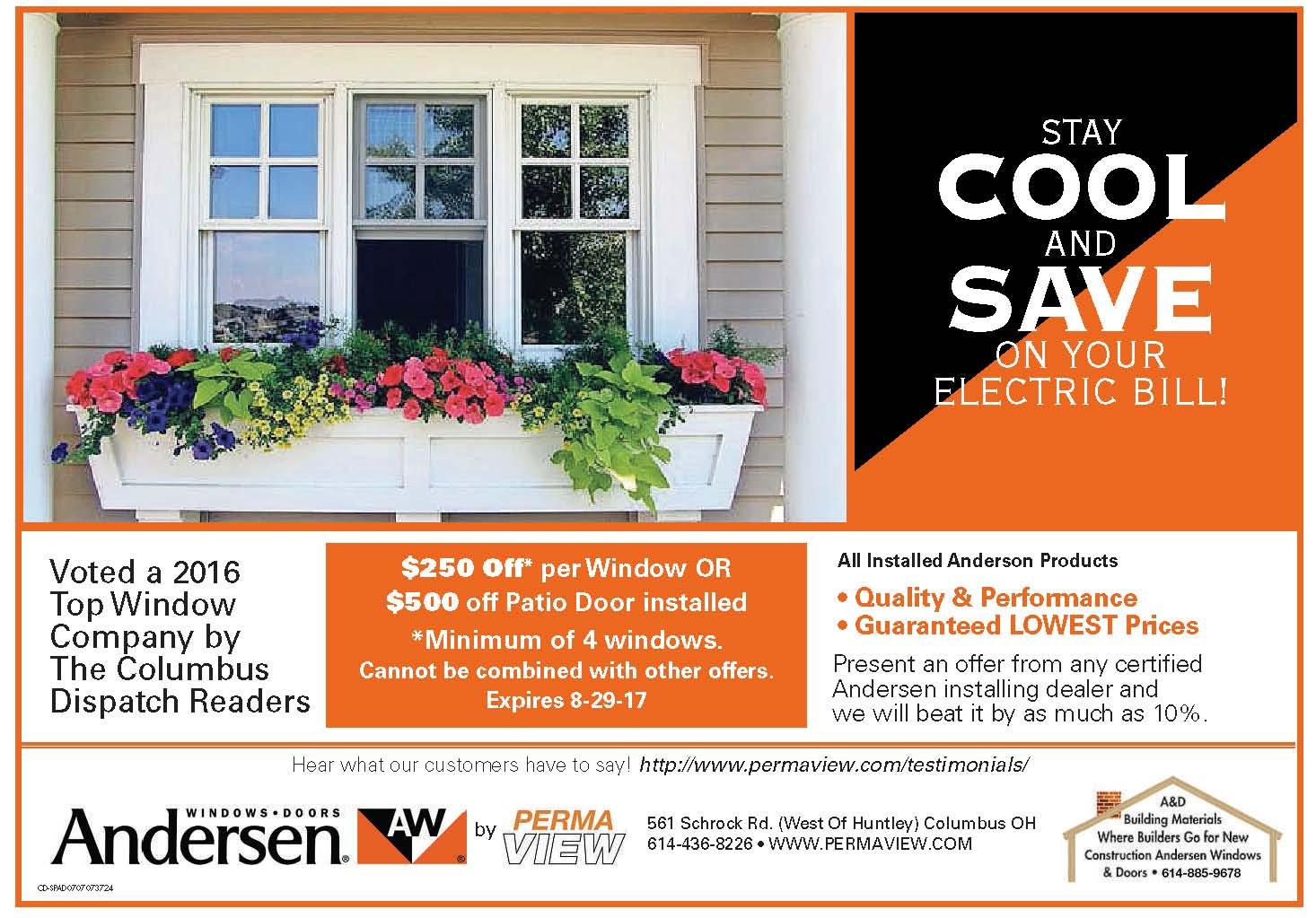 Andersen window coupon codes
